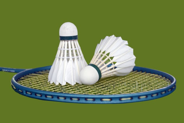 shuttlecocks-and-badminton-racket