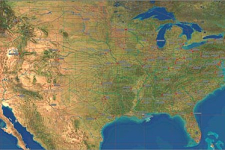 usa maps satellite images and vector maps