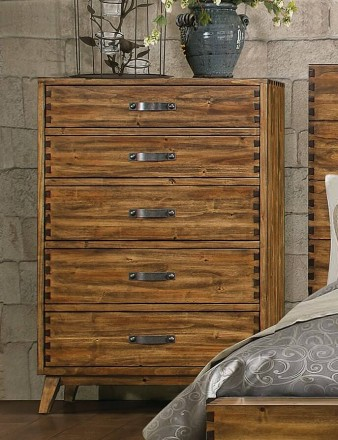 Sorrel Rustic Solid Wood 5 Drawer Chest By Homelegance