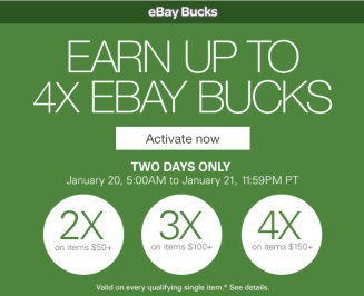 """Expired"" Ebay 4x bucks+ 20% gift cards at a discount off"