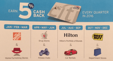 """6/3 update: Discover Q3 open register"" 2016 5x cash back credit card quarter summary"