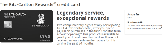 Chase Ritz-Carlton credit cards-top two nights + air claim