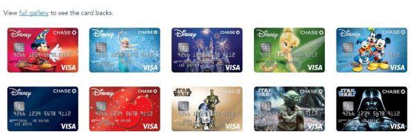 Series Chase Disney credit card, Debit card