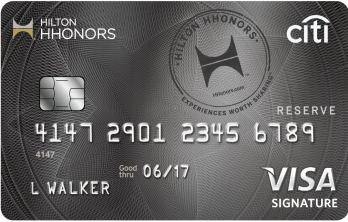 Citi Hilton HHonors credit card Reserve introduction – weekend luxury
