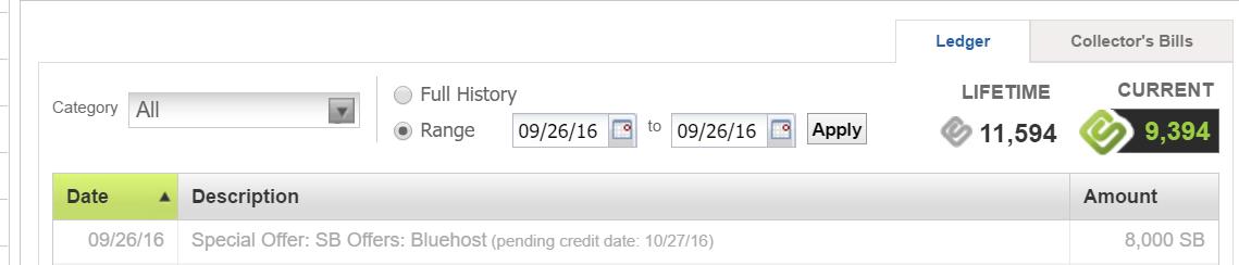【10/8更新:3500SB】Swagbucks+Bluehost=倒赚+免费服务器