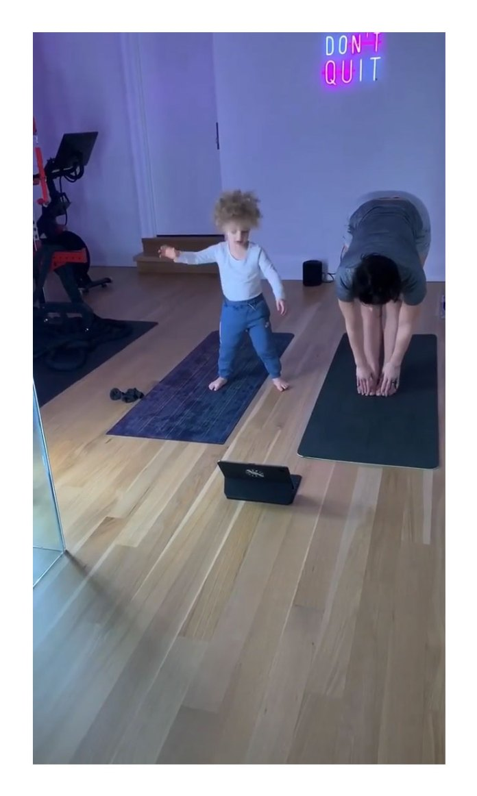 Sophie Brussaux Son Adonis Yoga With Mom Sophie Brussaux