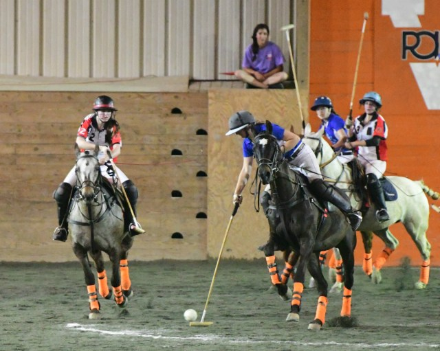Central Coast Polo Club/Santa Barbara's Petra Teixeira on the ball.