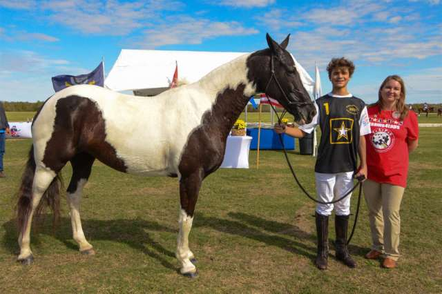 Army's Lance Stefanakis with Best Playing Pony Mariposa.