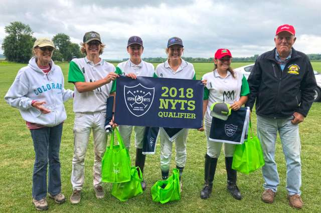 Blacberry Polo Club NYTS Qualifier champions Font Polo (L to R) Barb Alexander, James Boland, Maximo Font, Grace Mudra, Joscelin Gallegos, George Alexander.