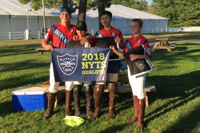 Farmington NYTS qualifier champions Red (L to R) Joe Post, Josh Escapite, Winston Painter, Sophia DeAngelis.