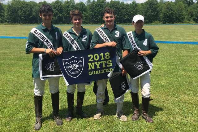 Gardnertown Polo Club NYTS Qualifier champions Gardnertown Polo (L to R) Oliver Wieser, Matt Chaux, John Dencker, Winston Painter.
