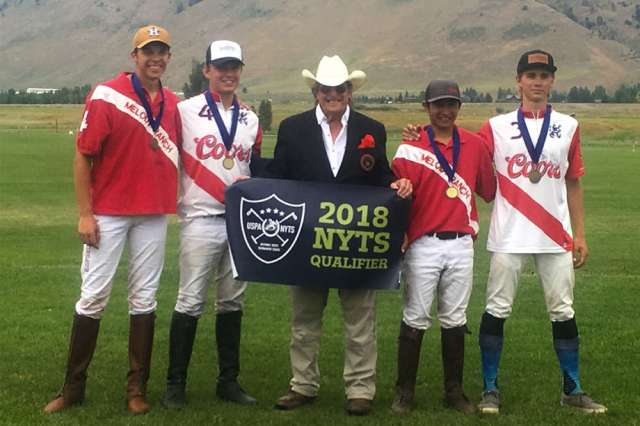 Jackson Hole Polo Club All-Stars (L to R) Anson Moore, Joe Coors, Paul Von Gontard, Chino Payan, Joe Mack Stimmel.