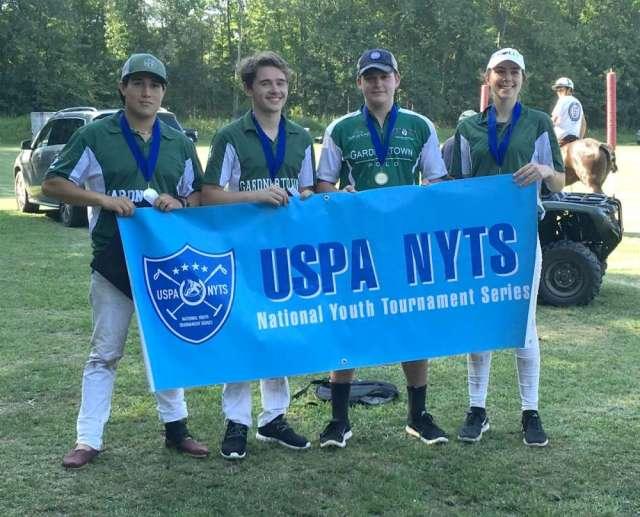 Gardnertown Polo Club NYTS Qualifier Tournament 1 All-Stars: Morgan Palacios, Pierre Chaux, John Dencker, Jenna Tarshis.