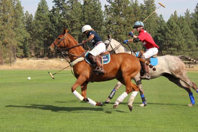 action at Spokane Polo Club