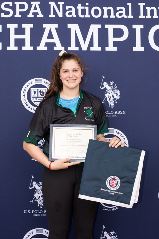 Girls' Sportsmanship Award- Ari Dogani (Boston)
