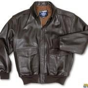 Goatskin Leather Bomber Jacket