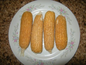 Dried corn ready to be parched