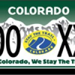 Colorado Stay The Trail Custom License Plates