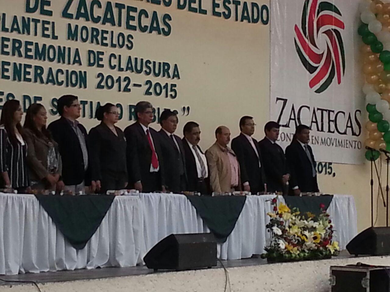 Nuestra Rectora  en Ceremonia de clausura del Colegio de Bachilleres Plantel Morelos