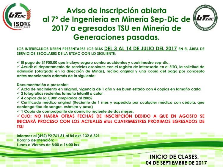 AVISO PARA 7MO DE MINERÍA 2017 copy
