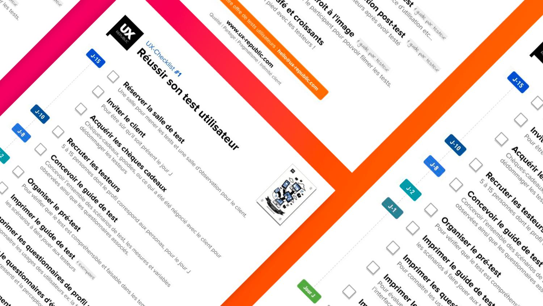 trame checklist test utilisateur UX REPUBLIC