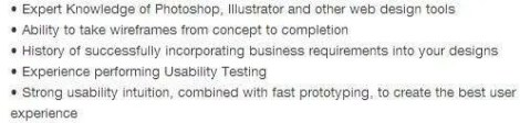 UX-Resume-Job-Description