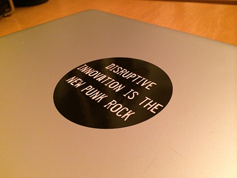 The sticker on my laptop lid