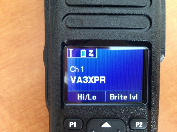 Motorola, MOTOTRBO, XPR7550, XPR 7550, display, color, colour, ham radio, amateur radio, DMR, digital mobile radio, LCD, VA3XPR