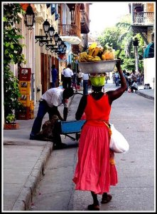 """""""Palenquera"""" strolling the streets of the Walled City photo by Sangroncito"""