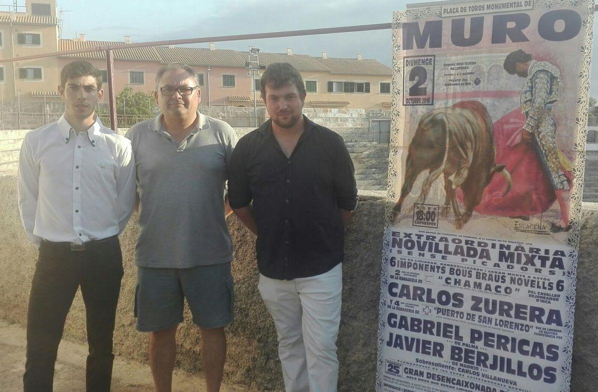 Inesperada novillada en Muro (Mallorca) el 2 de octubre