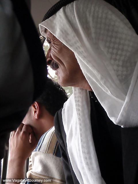 arab man in headscarf