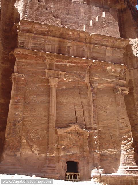 photo of rock carvings at petra