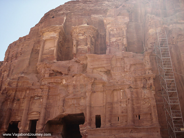 photo of the tombs of petra