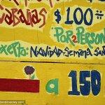 Posada Carrizo 100 pesos a night for a private bungalow