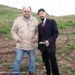 Interviewing the archaeologist, Klaus Schmit