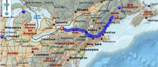 Bangor Maine to Albion New York