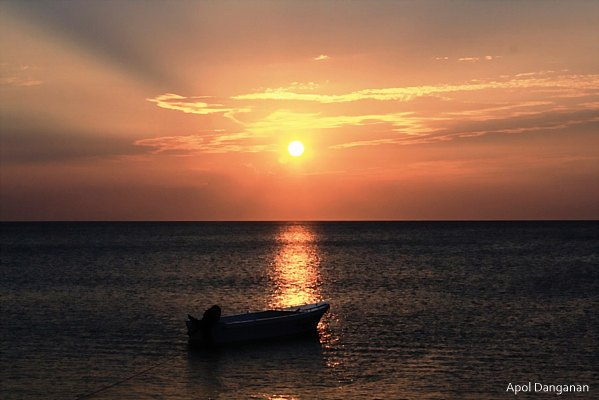 Sunset at Palaui Island