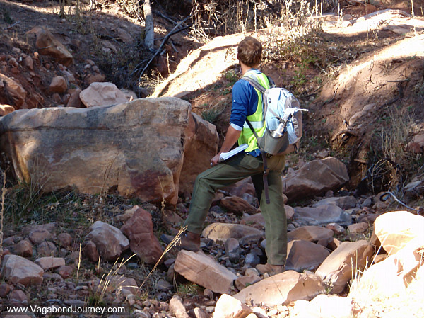 Archaeology Crew Chief snapping the whip