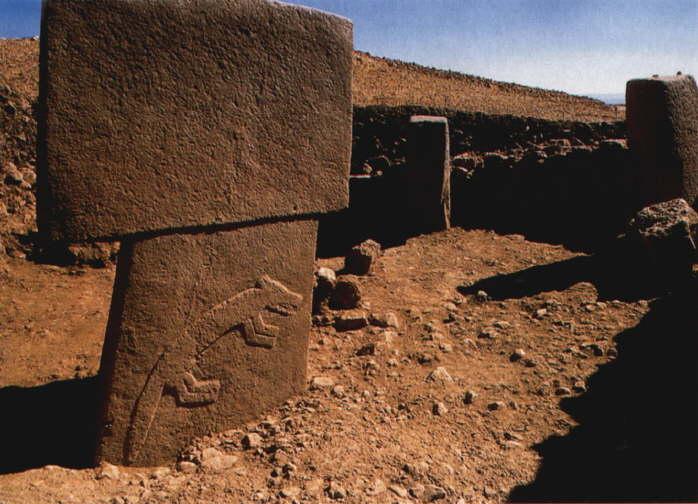 Gobekli Tepe carvings on a monolith