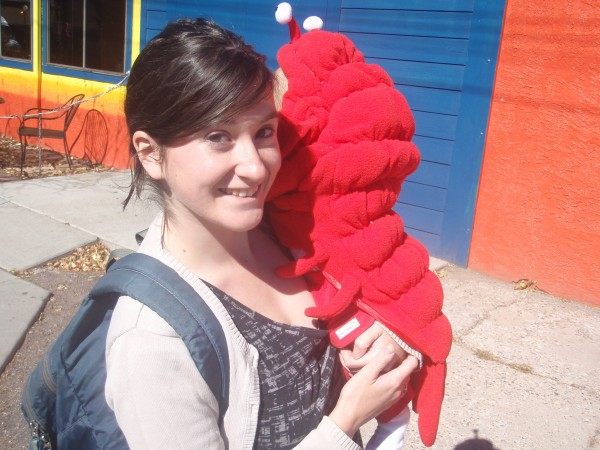 Chaya and a little lobster