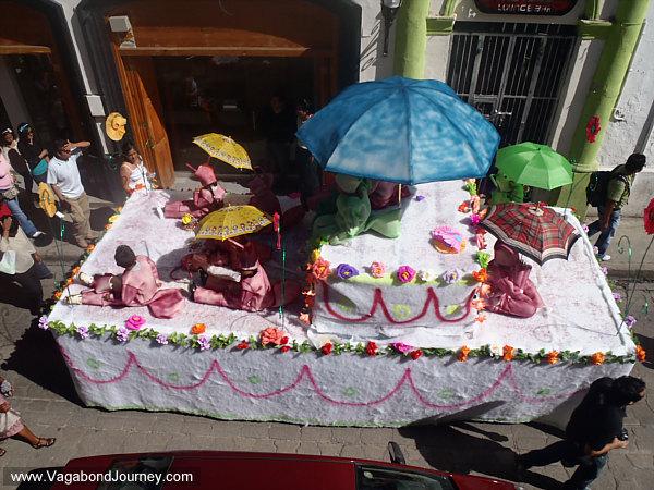 La Merce parade in Mexico