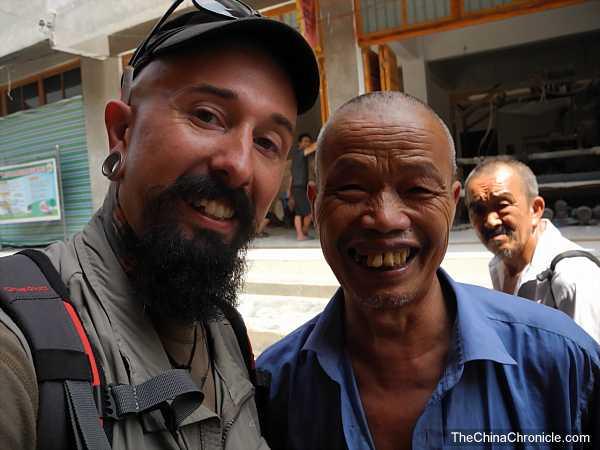 Wade and a Miao man in the far north of Guizhou province.