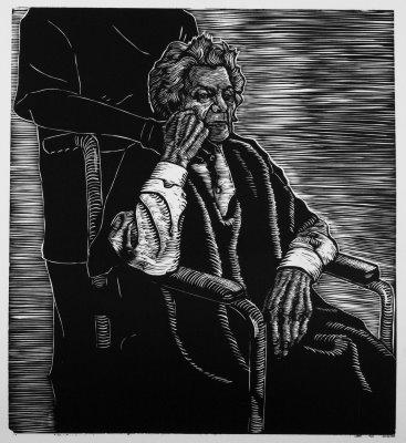 Woodblock print by Justin Catania