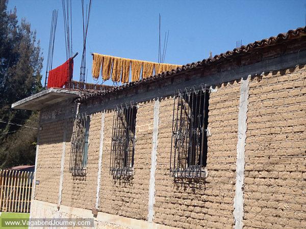 Yarn drying in Mexico