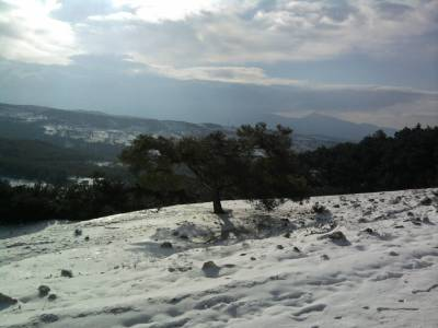 Snow in Manisa Mountains