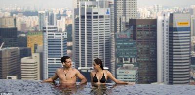 Skypark pool at Marina Bay Sands