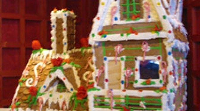 Shipboard Gingerbread house