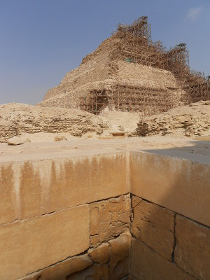 inside the temple complex at saqqara