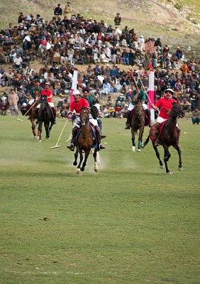 The world's highest polo match takes place every year between the Gilgit and Chitral regions of the Karakoram