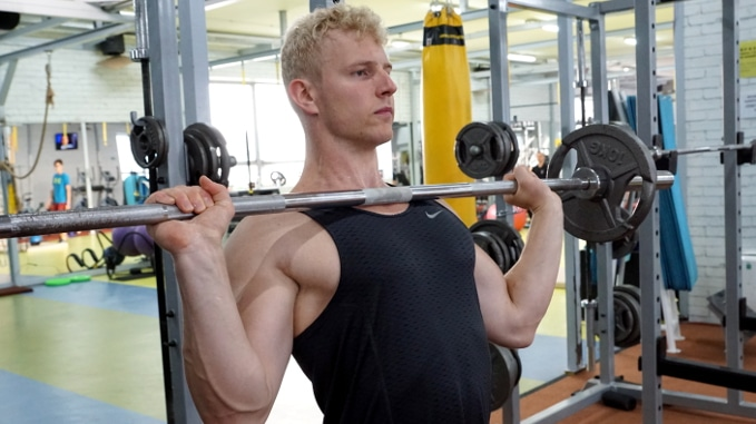 barbell press for shoulders